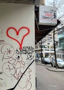 17th May 2020 - Red heart on a wall.