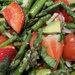 Asparagus and strawberries salad.