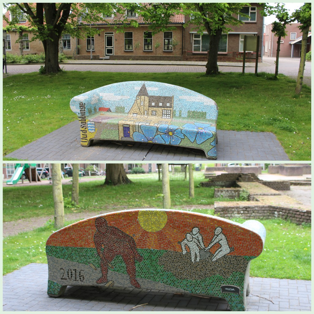 A mosaic art bench  by pyrrhula