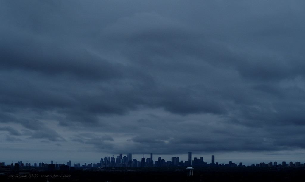 the skyline from my balcony by summerfield