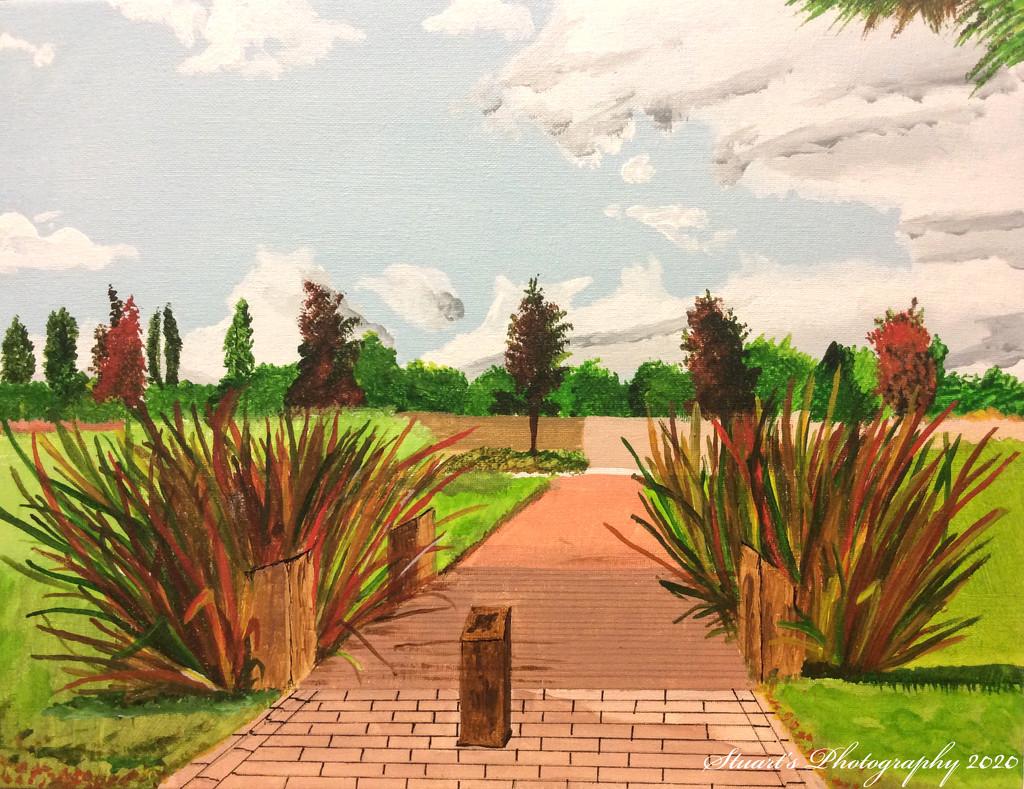 City park (painting) by stuart46