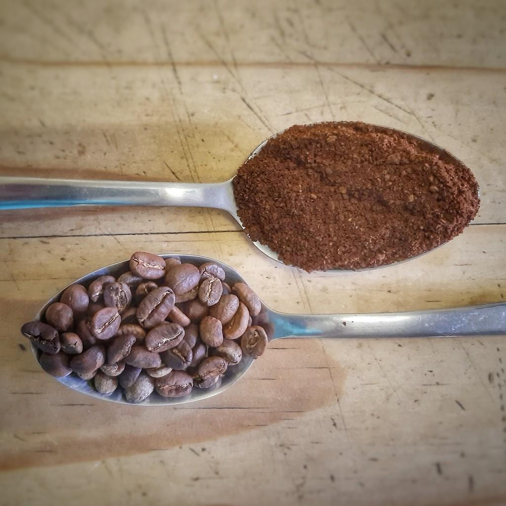A spoon of coffee  by salza