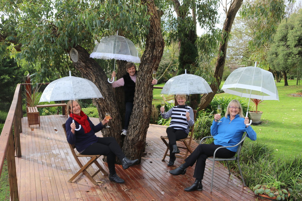 Social distancing clear brollies by gilbertwood