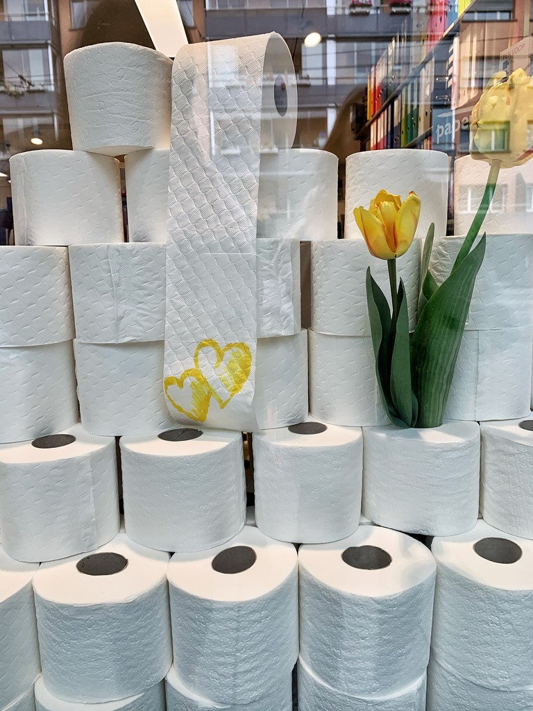 Hearts on toilet paper.  by cocobella