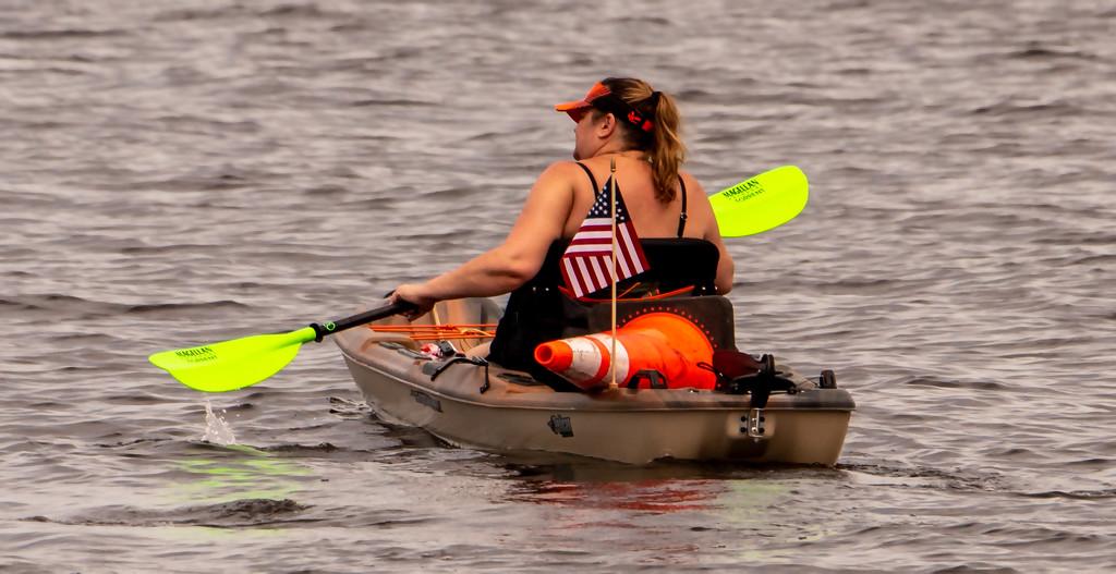 Patriotic Kayaker! by rickster549