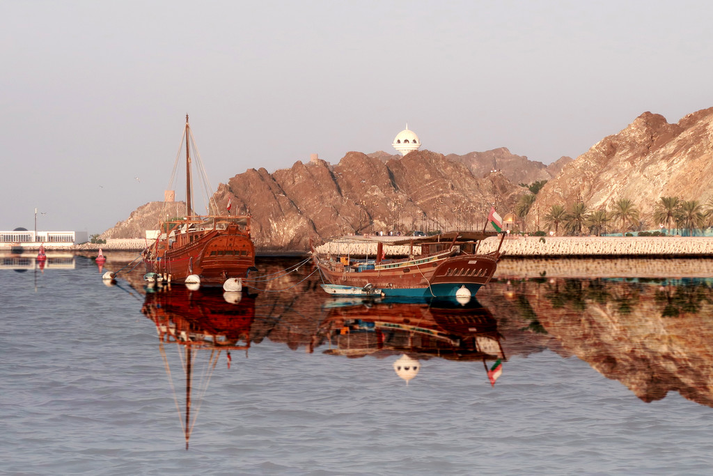 Added reflection - Mutrah Corniche by ingrid01