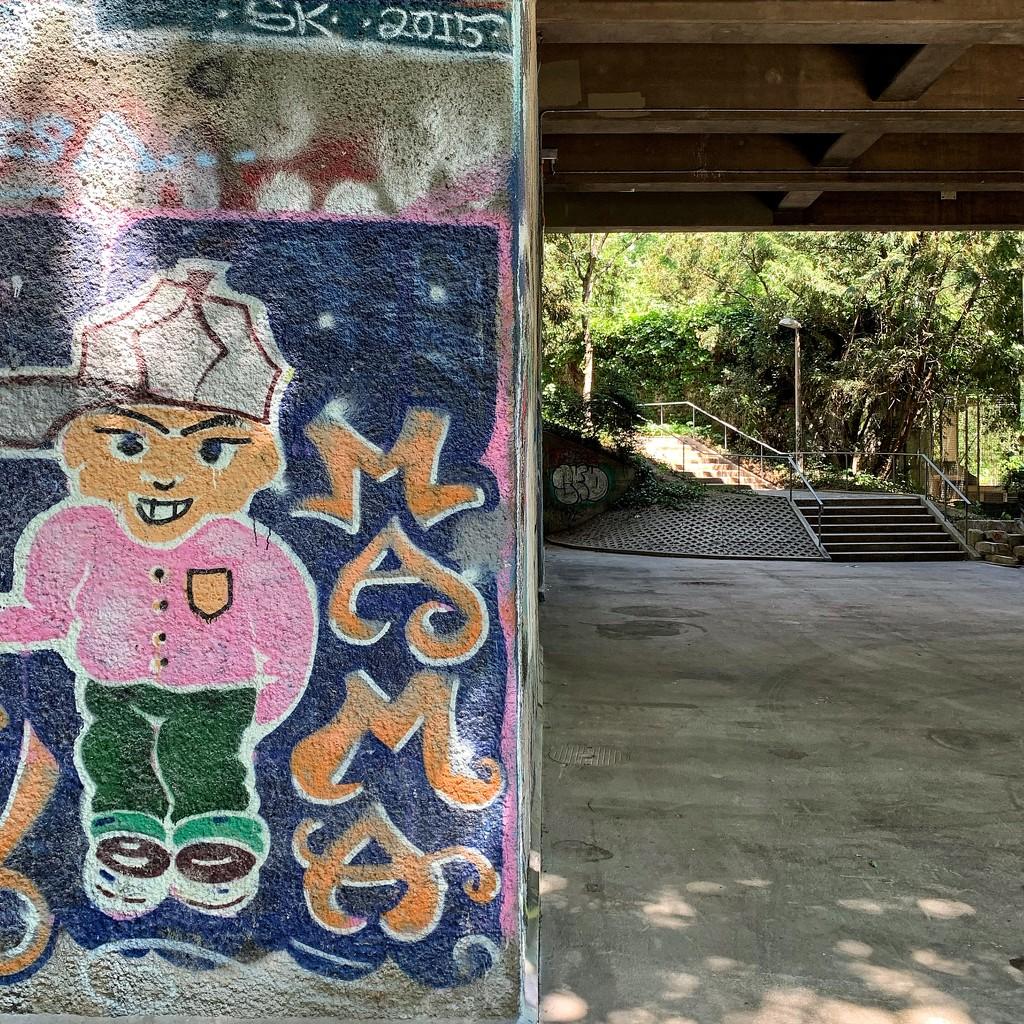 Half street art / half under the bridge.  by cocobella