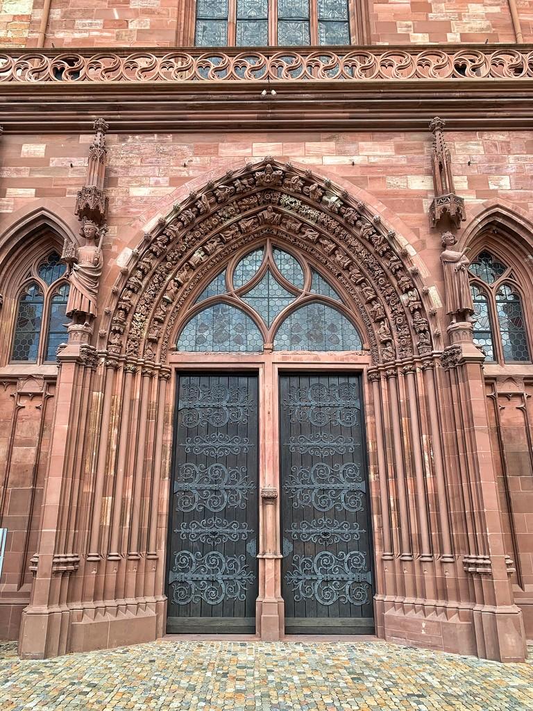 Basler münster door with hearts.  by cocobella