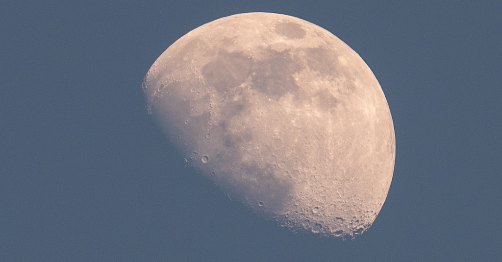 Afternoon Moon! by rickster549