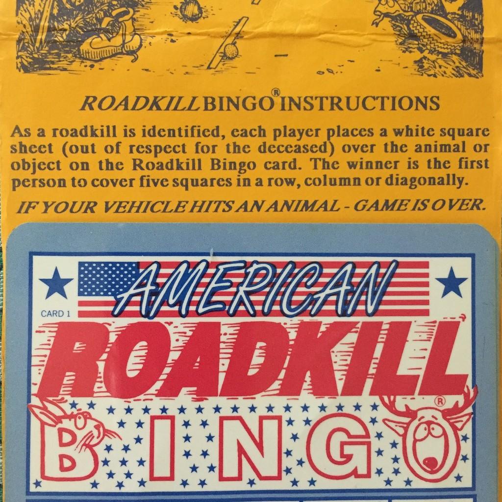 American Roadkill Bingo by mcsiegle