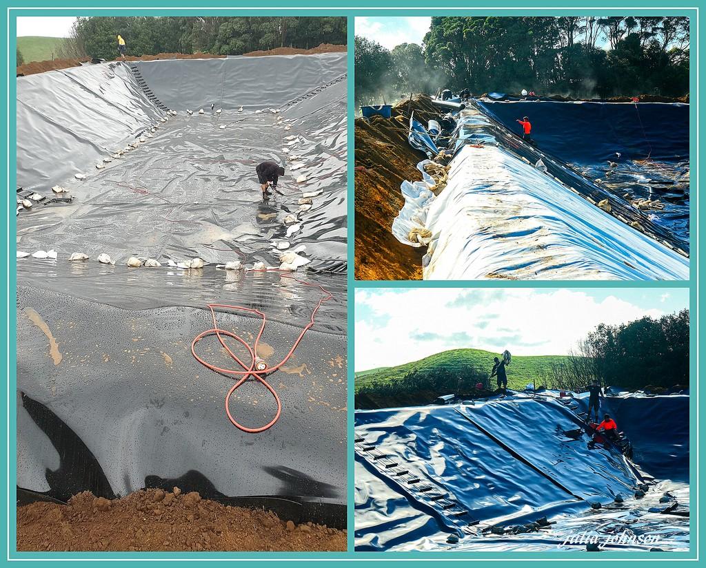 Lining the Effluent Pond.. by julzmaioro