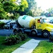25 of these Cement trucks have been going through the village today