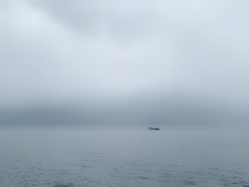 Boat in the fog.  by cocobella