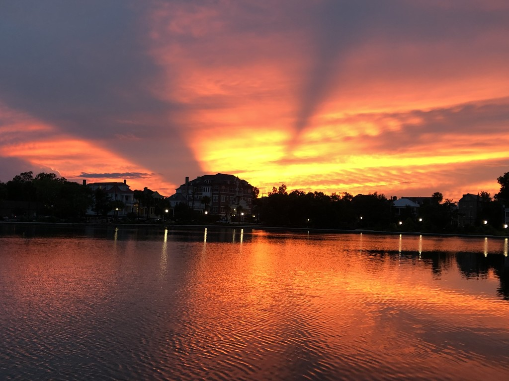 Sunset at Colonial Lake by congaree
