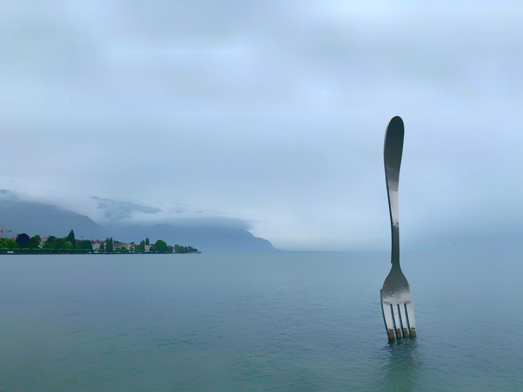 A fork in the lake.  by cocobella