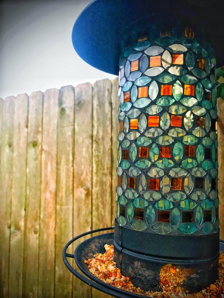 Bird feeder at Twilight by kaylynn2150