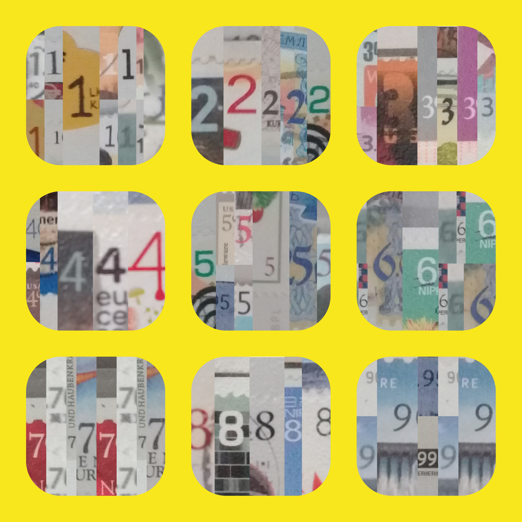 number collage by arnica17