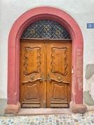 15th Jun 2020 - A golden heart above a brown door at the #5.