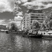 Houseboats on the River Vilaine in the centre of Rennes by vignouse