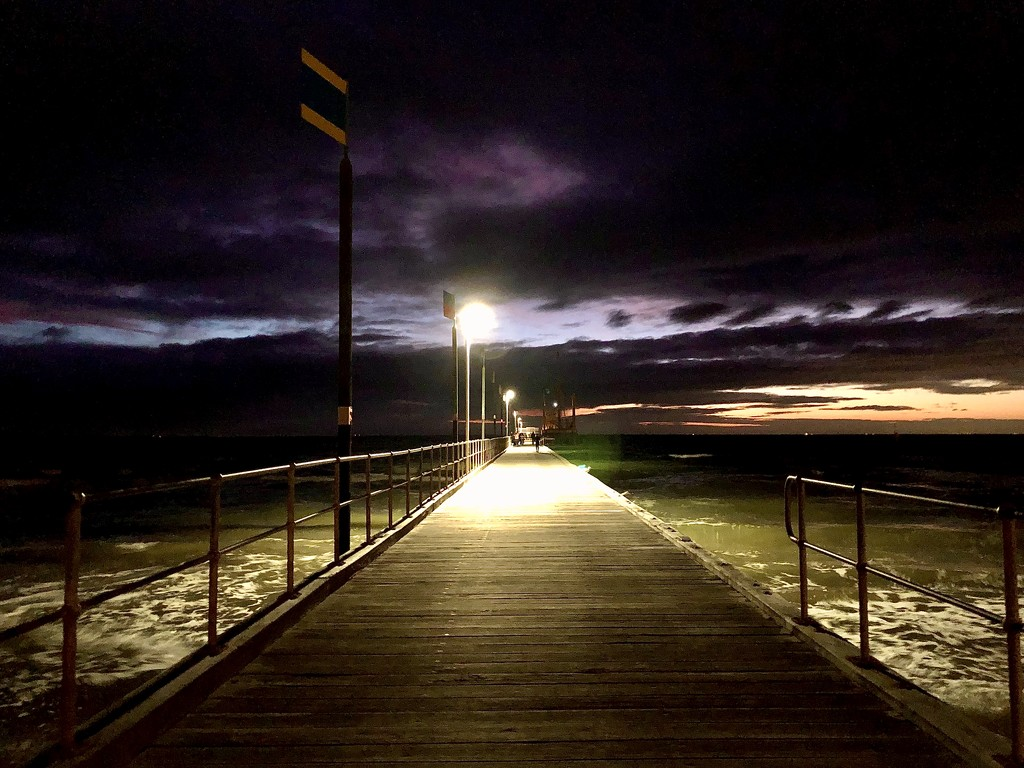 Night fishing at the pier  by pictureme