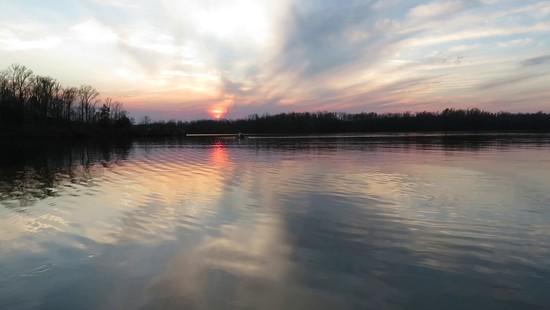 1st Apr 2020 - Sunset on Cedar Lake