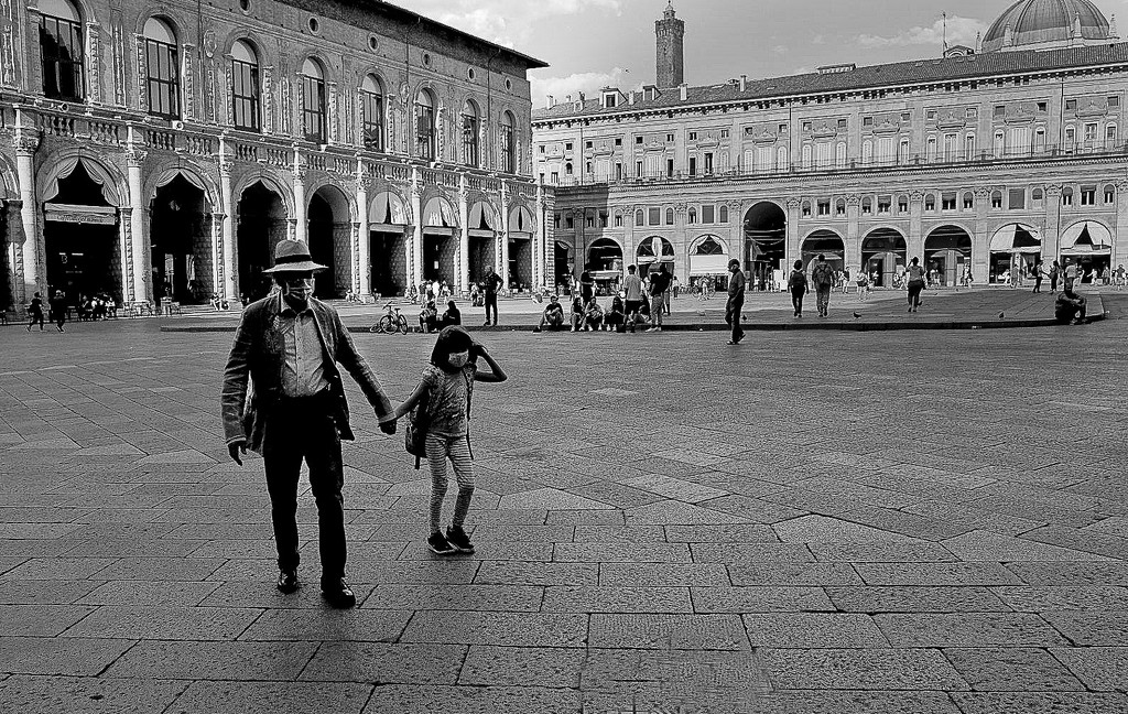 Back from school with Granpa by caterina
