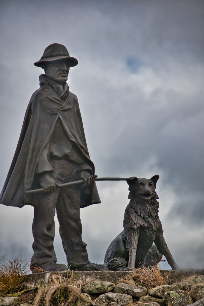 Drover and his dog by suez1e