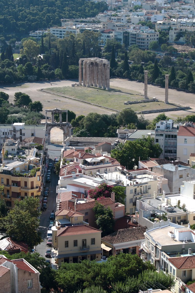 View of the Temple of Olympian Zeus by blueberry1222