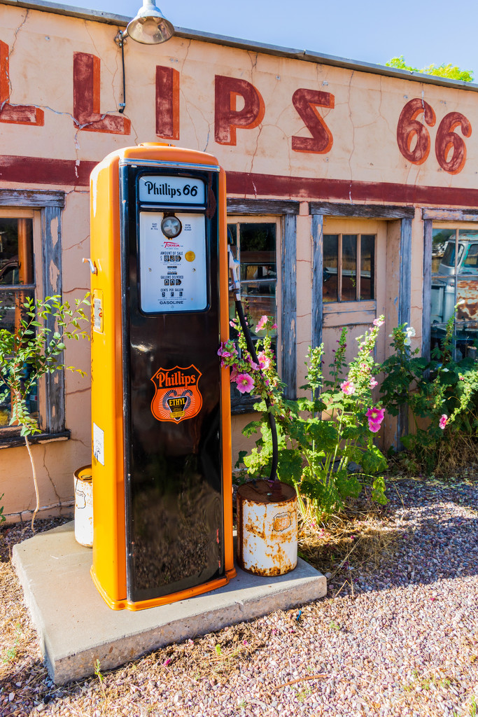 Old Style Gas Pump by photograndma