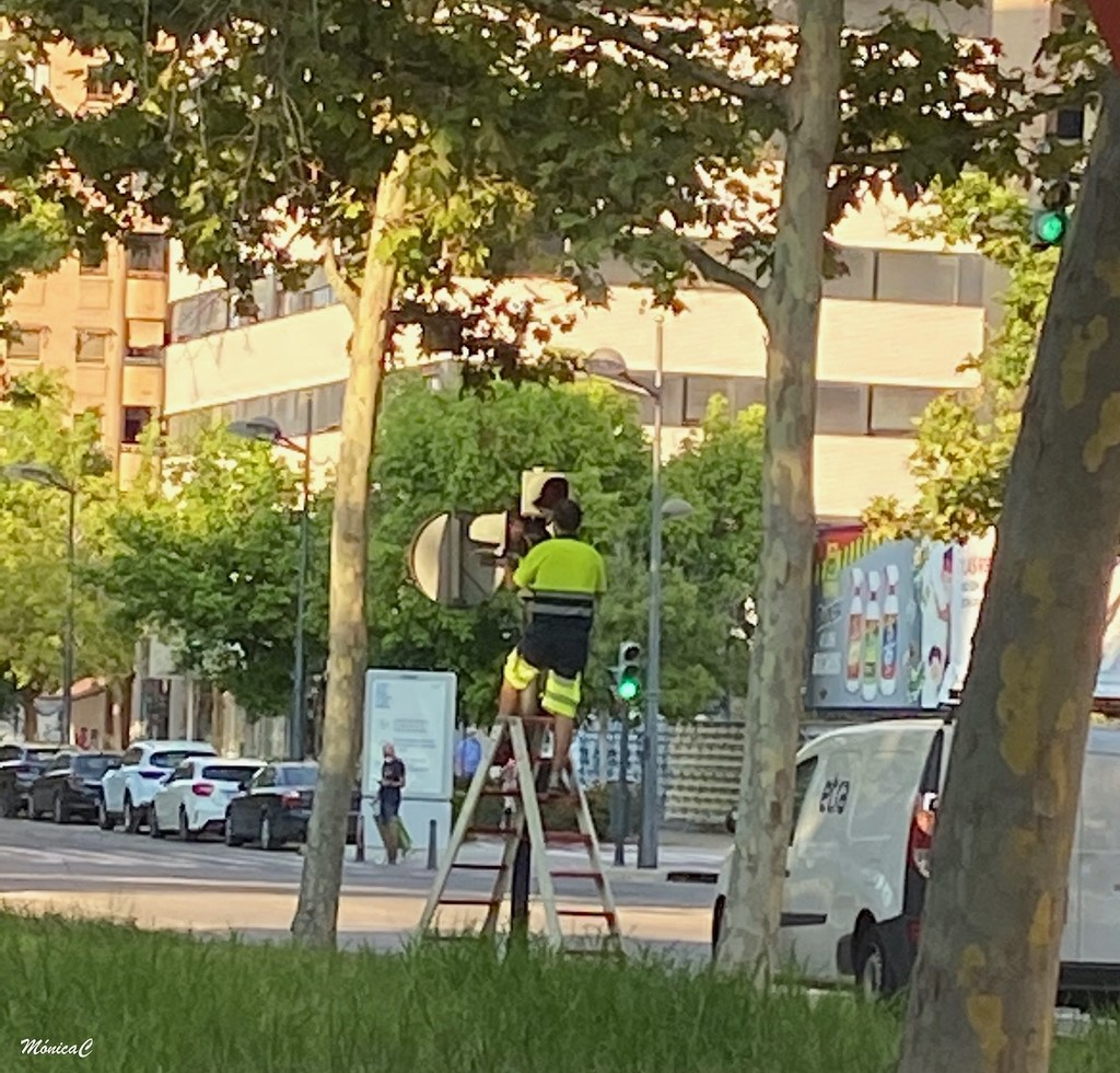 Repairing the traffic light by monicac