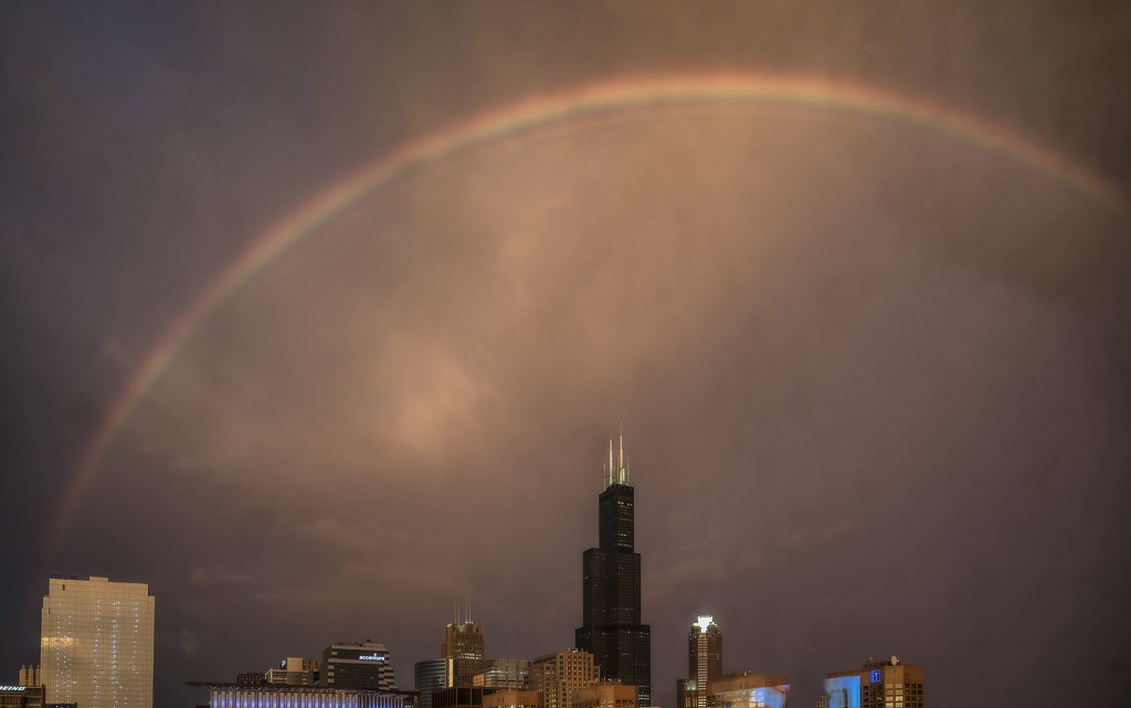 Rainbow During the Storm by taffy