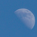 Half moon in the middle of the day