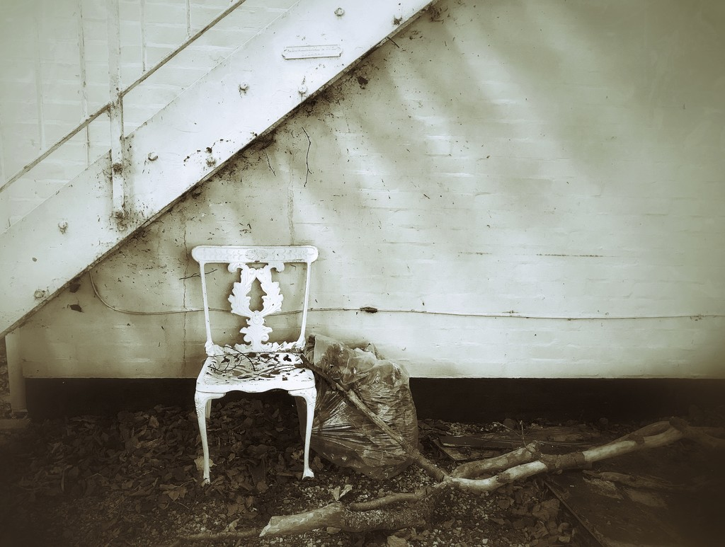 Chair under the stair by photopedlar