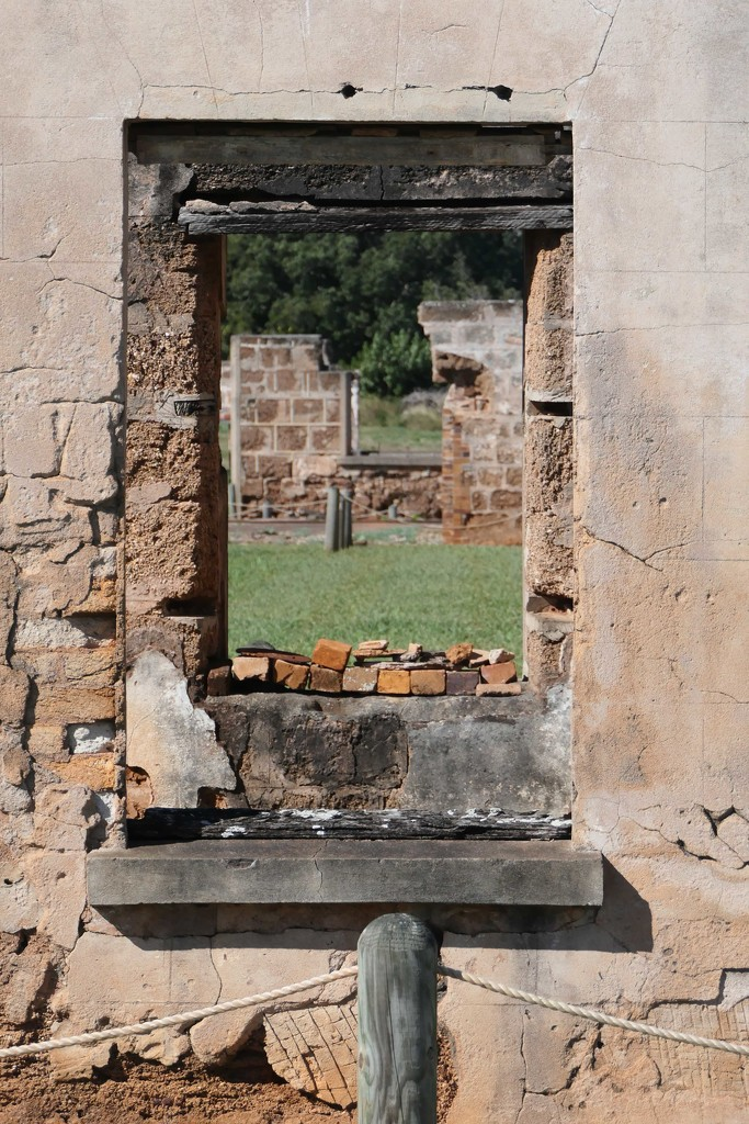 ruins of the old jail on St Helena Island, Queensland by hrs