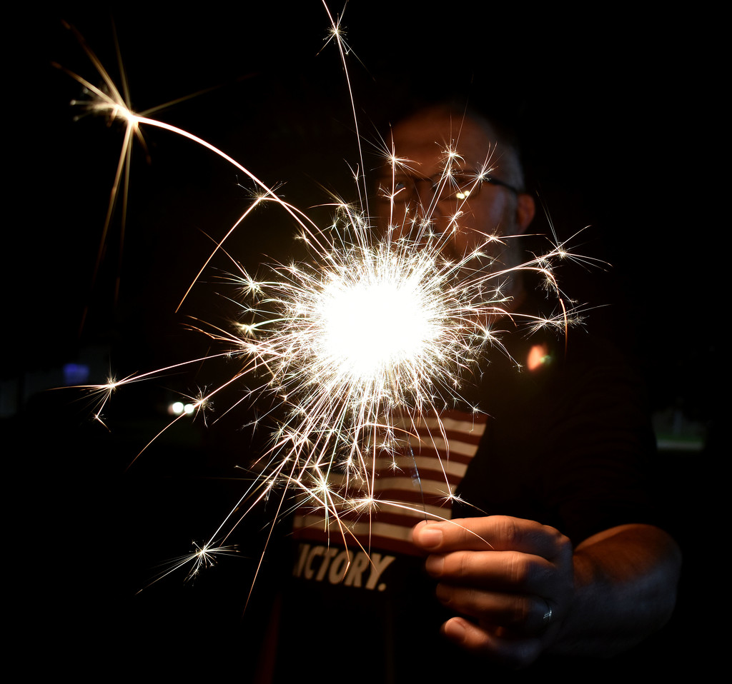 Sparkler fun by homeschoolmom