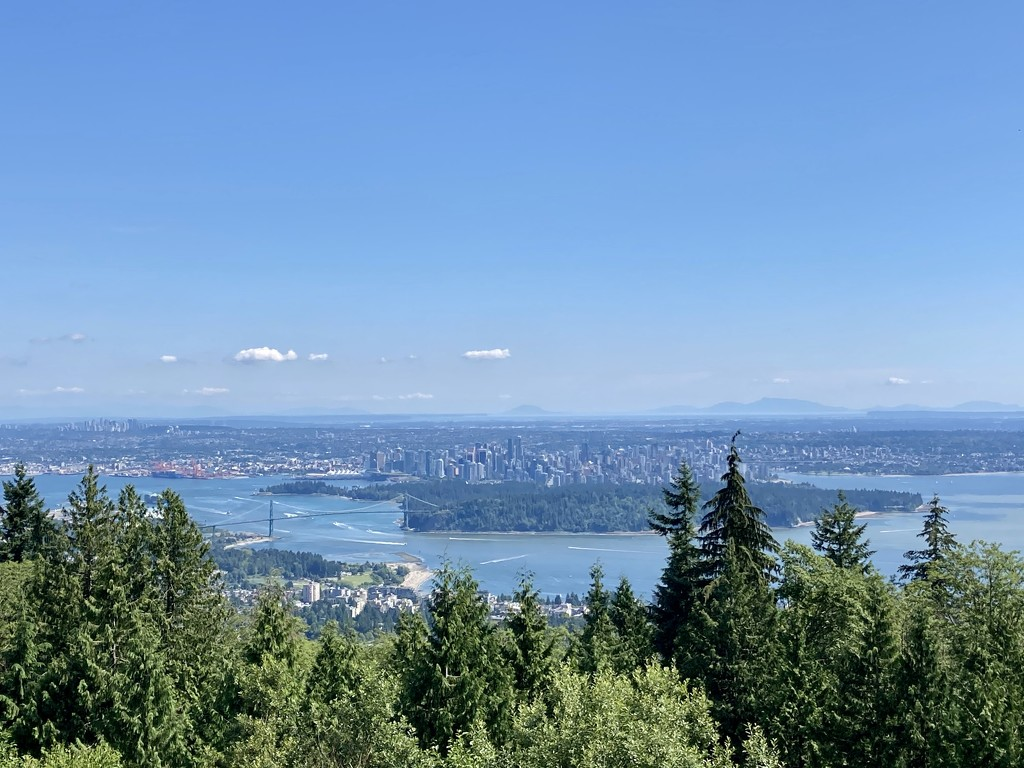 Vancouver from the lookout on the way up Cypress Mountain  by bilbaroo
