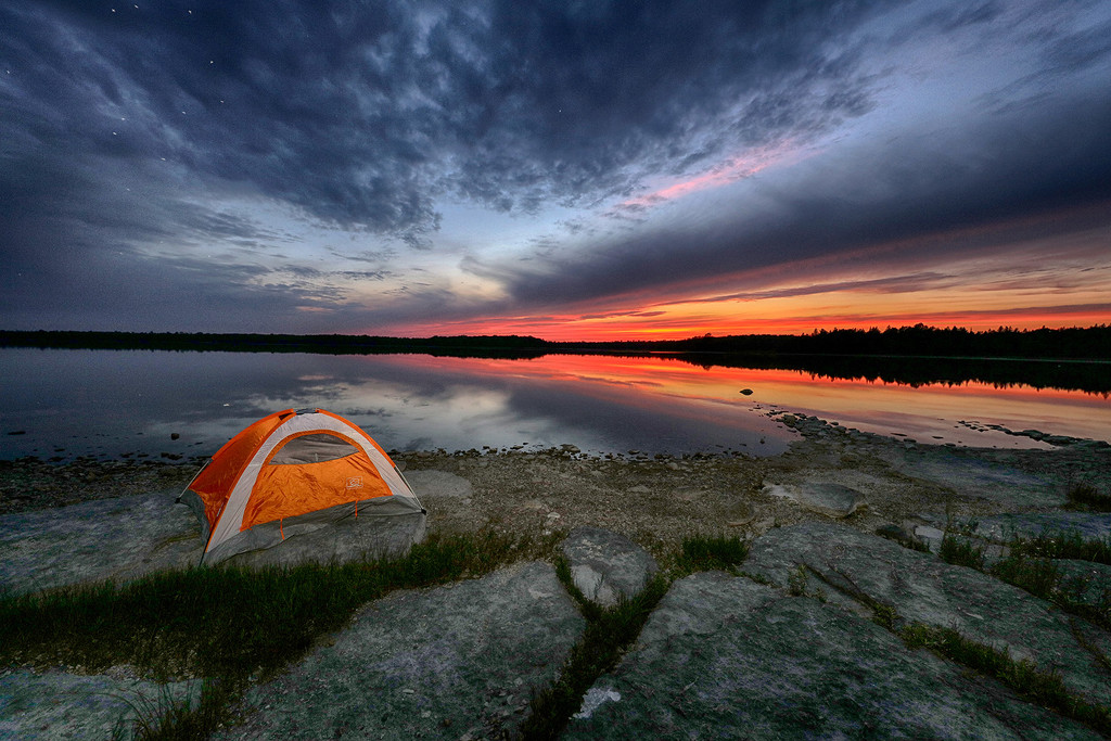 Manitoulin Island Sunset Camping by pdulis