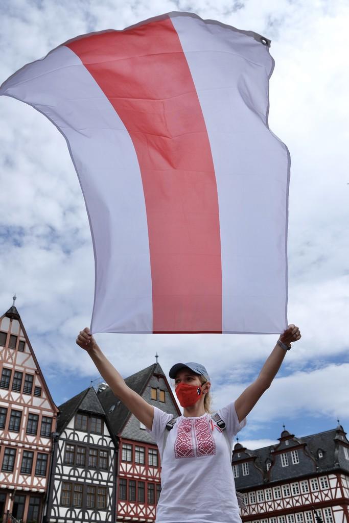 Belarus - protest in Frankfurt  by vincent24