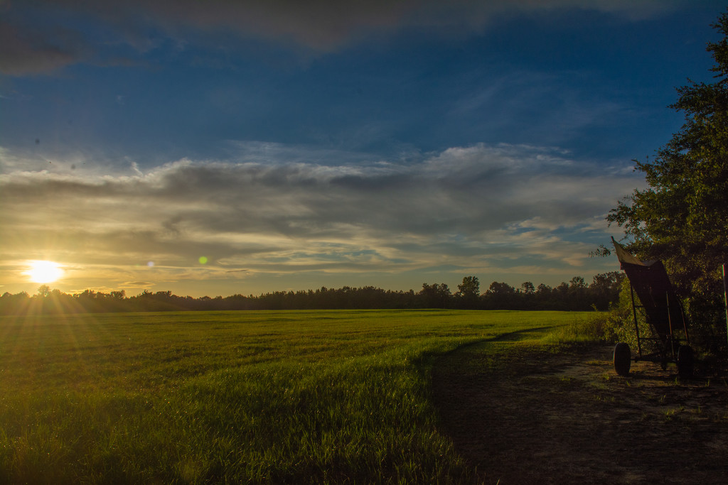 Sunset on the hayfield... by thewatersphotos