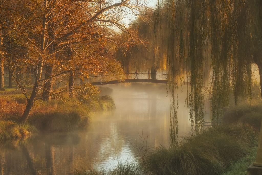 Mist in the morning - Avon River Christchurch NZ by maureenpp