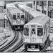 Passing trains - Chicago 2017 by pamknowler
