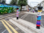 29th Jun 2020 - Bollards and mural