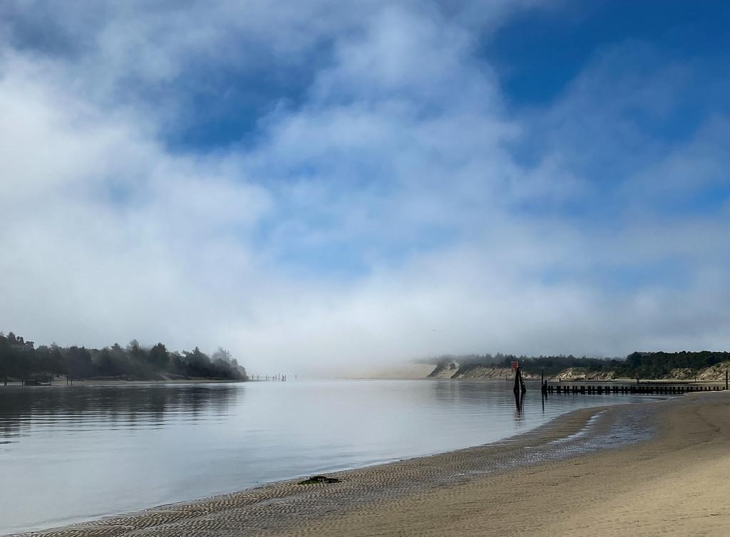 Fog Over the River  by jgpittenger