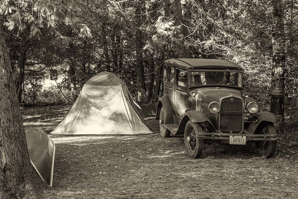 1929 Model A Ford Camping by pdulis