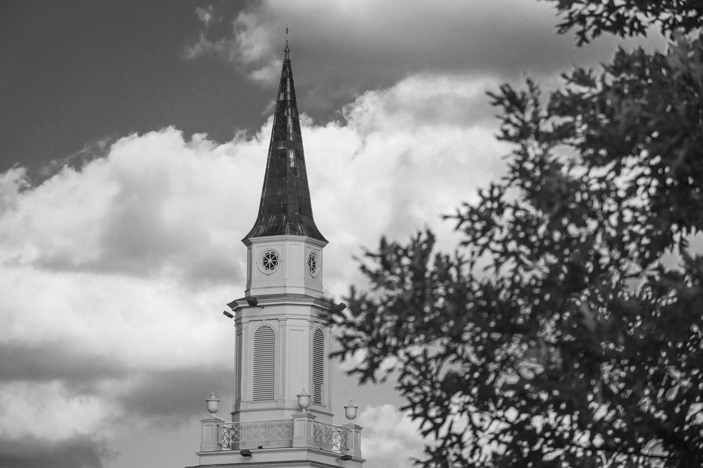 Steeple in B&W... by thewatersphotos
