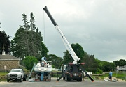 23rd Jul 2020 - Putting up the mast.