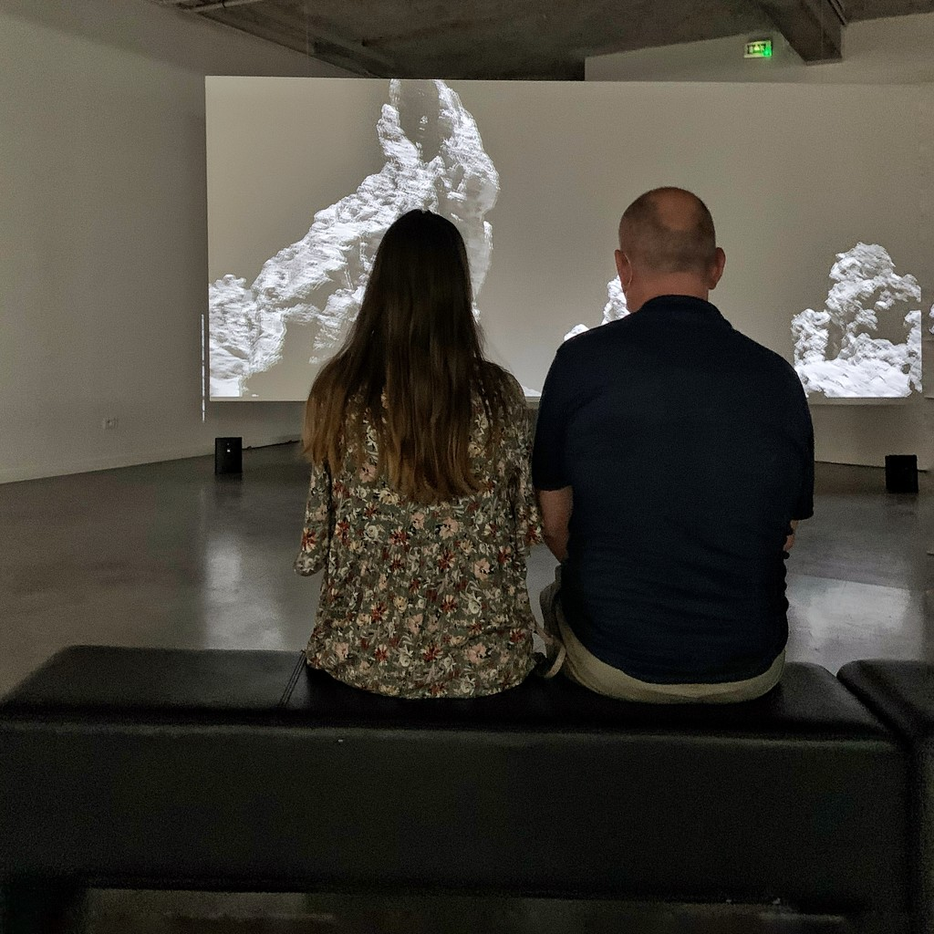 Daughter and father at the museum.  by cocobella