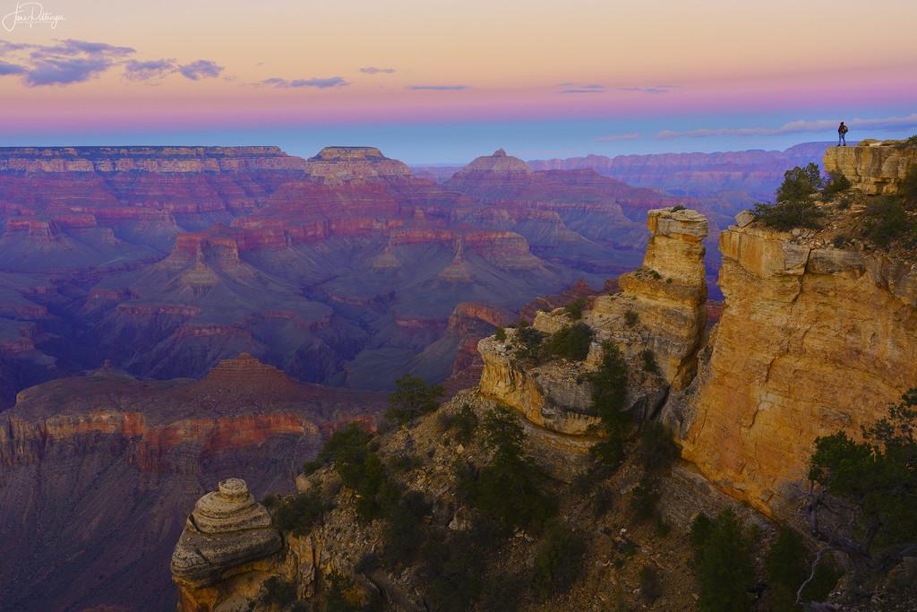Enjoying the Sunset At Grand Canyon 2020 edit  by jgpittenger