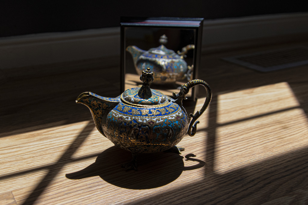 Still Life with Tea Pot and Mirror by timerskine