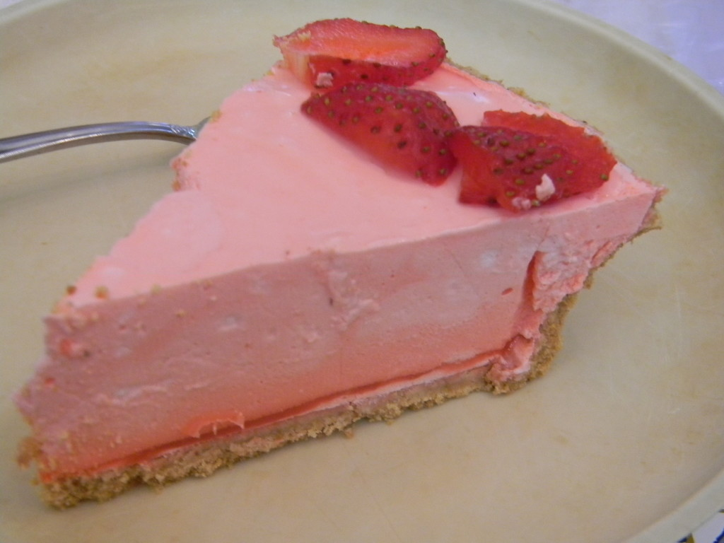 Strawberry Jell-O Pie  by sfeldphotos